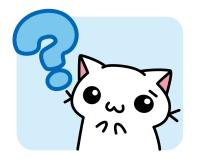 はてな顔の猫のイラスト